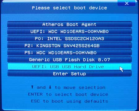 UEFI boot options on GA-H77M-D3H w/Intel 520 SSD | AnandTech Forums